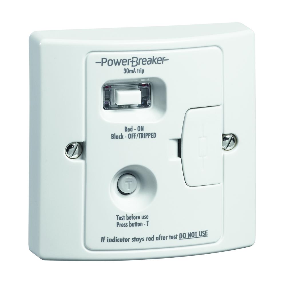 PowerBreaker RCD Spur White 13A