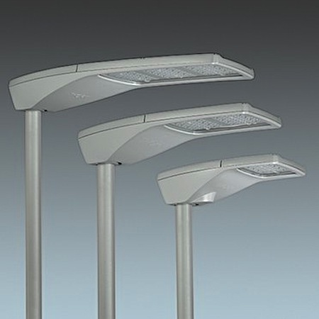 Three of Thornu0026#039;s R2L2 LED street lighting lanterns. (Thorn Lighting & Thorn supplies LED street lighting for Durham County